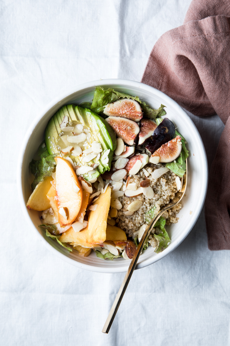 Flourishing Foodie: Summery Peach and Fig Salad with ...