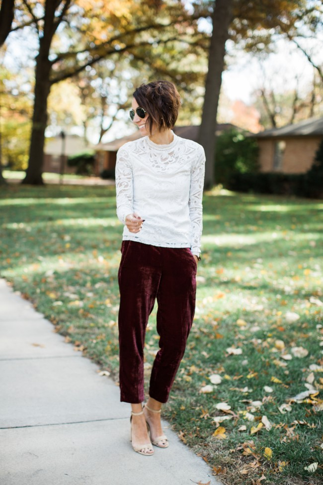 Adding velvet to an outfit - Kilee Nickels