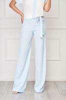 Pantaloni StarShinerS albastri deschis eleganti evazati