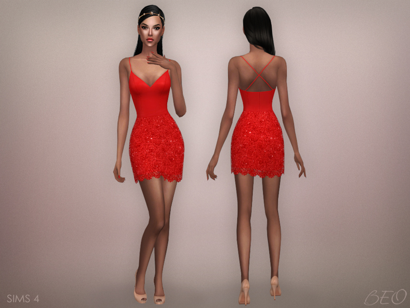 My Sims 4 Blog: Julianne Dress By BEO Creations