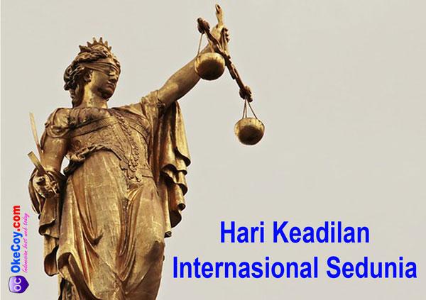 hari keadilan dunia internasional sedunia nasional indonesia
