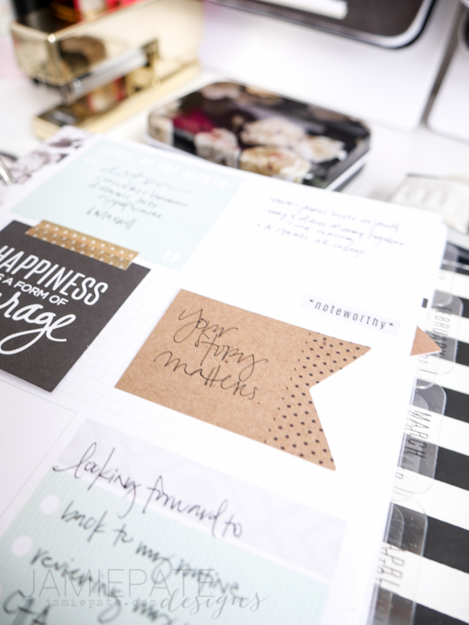 Heidi Swapp Love Today Memory Planner Jan Week 1 by Jamie Pate  |  @jamiepate for @heidiswapp