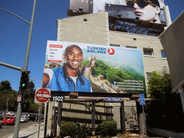 Kobe Bryant Turkish Airlines billboard