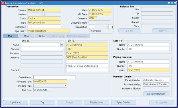 Oracle Applications: Oracle Account Receivable (AR
