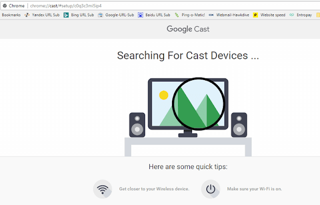 Setting up Google Chromecast from Chrome Browser on a PC