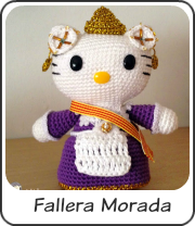 Hello Kitty fallera morada