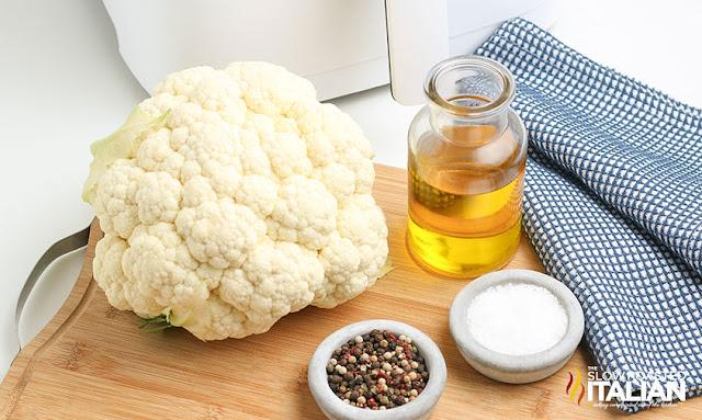 air fried cauliflower ingredients