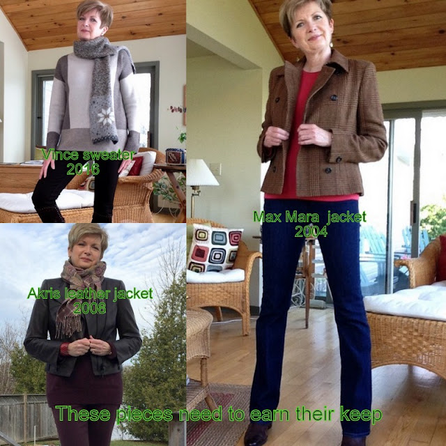 pictures of three women in various fall outfits