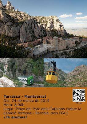 """Póster del cartel """"Terrassa - Montserrat"""" de 2019"""