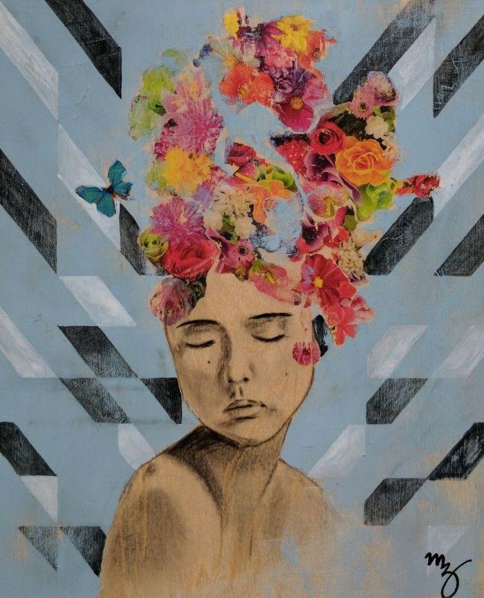 Австралийский художник. Смесь техник. Maria Al Zoubi