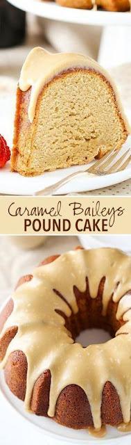 Caramel Baileys Pound Cake