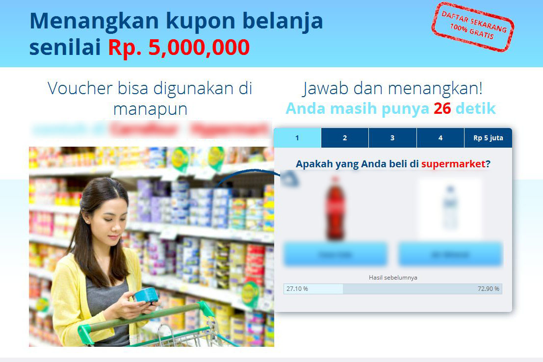 Hadiah Indo Kupon Penipuan Atau Bukan? | Review Planet49 Scam, Fake or Legit?