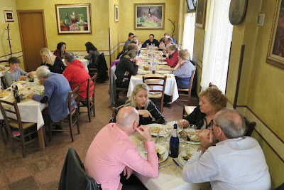 Dining room at Abacab Ristorante & Tordelleria, Massa, Tuscany, Italy.