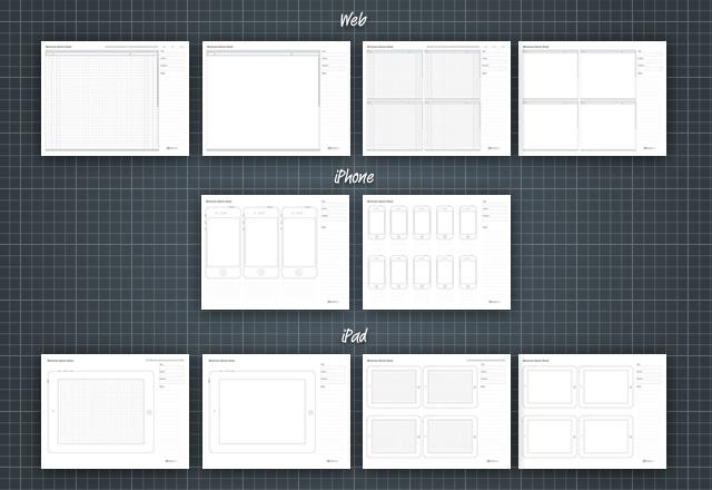 Wireframe Sketch Sheets - DesignInspiration