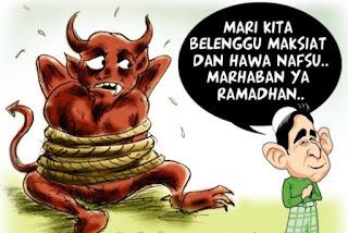 Gambar Karikatur Ramadhan Lucu