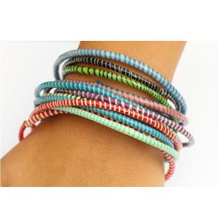 recycled flip flop bracelets