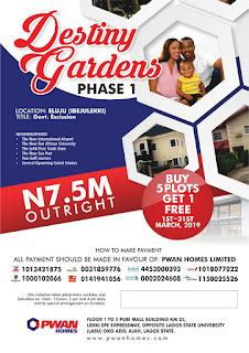 Promo! Promo! Buy A Plot Of Land In Lagos State Nigeria.