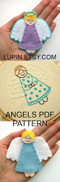 Angel PDF Sewing Tutorial & Embroidery Pattern by Laura Lupin Howard