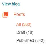 jumlah artikel blog