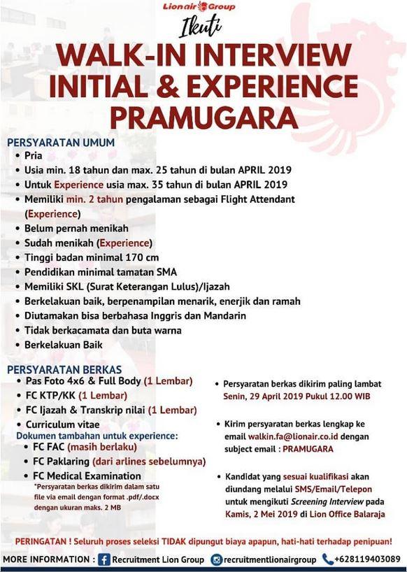 Lowongan Pramugari 2019 : lowongan, pramugari, Lowongan, Kerja, Group, Bulan, April, (UPDATED), Rekrutmen, Maret