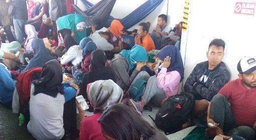 H-1 Idul Adha 1438 H, Trip I Dari BIra, KM. Lestari Maju, Sarat ,Pemudik