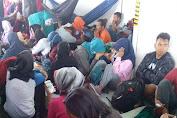 H-1 Idul Adha 1438 H, Trip I Dari Bira, KM. Lestari Maju Sarat Pemudik