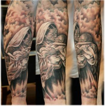 virgin+mary+tattoos+designs+on+kyles+arm