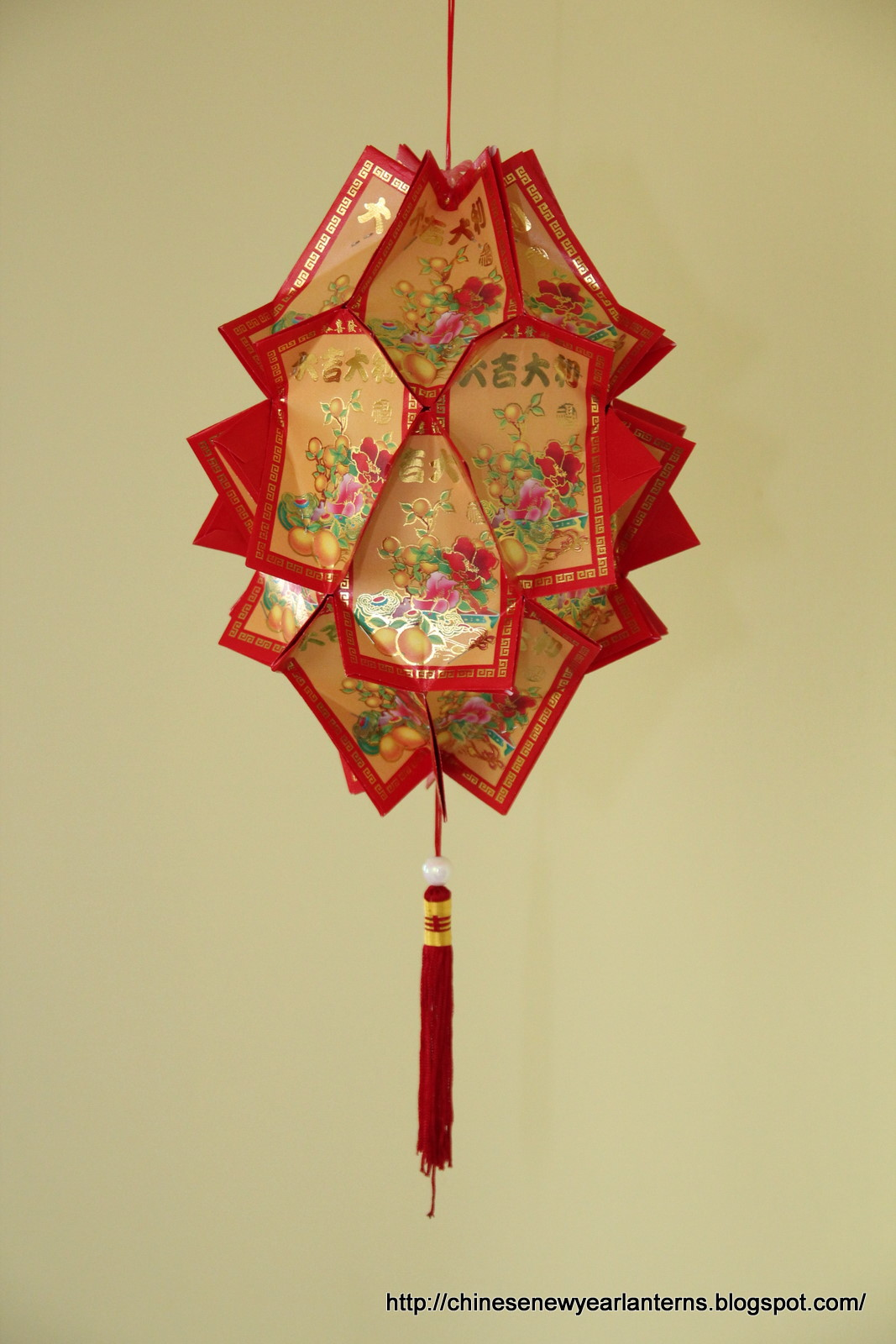 Chinese New Year Lanterns : How to make a Lamp ...