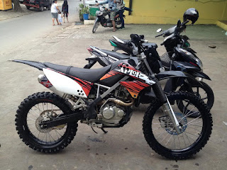 modifikasi motor trail klx