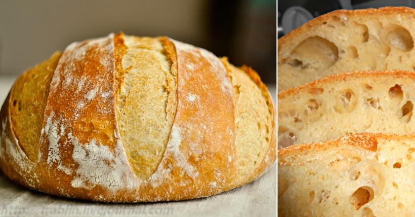 Хлеб без замеса Хлеб без замеса