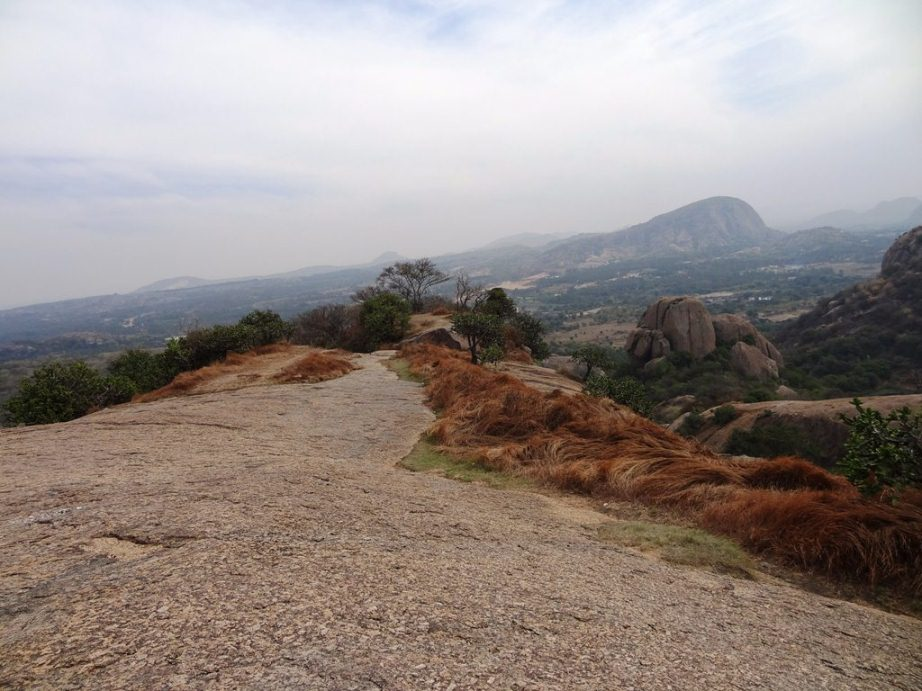 one day trekking near Bangalore -  top of Ramadevarabetta - Sholay hills