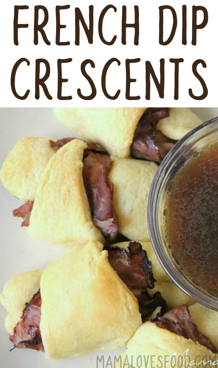 French Dip Crescents with Easy Au Jus Recipe