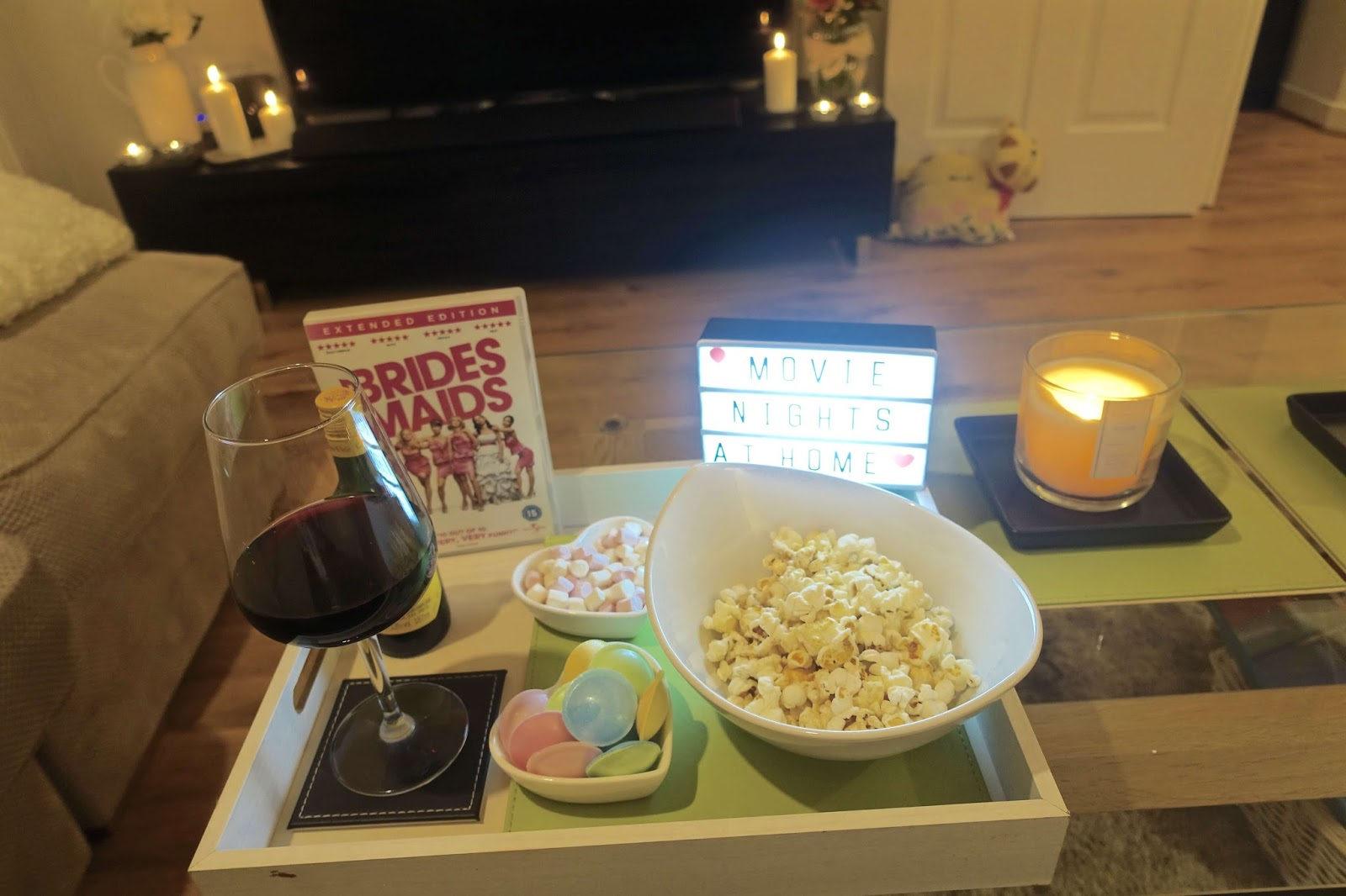 the essentials for a movie night at home
