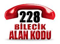 0228 Bilecik telefon alan kodu