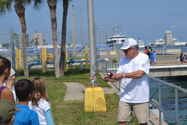 Kid's Fishing Clinic At Port Canaveral, Florida