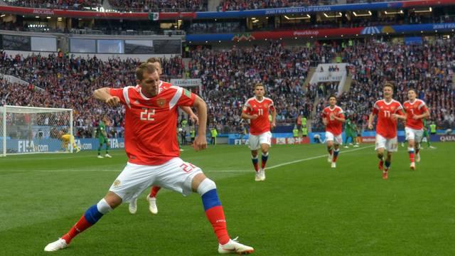 Russia estreia com goleada sobre Arábia Saudita na Copa do mundo