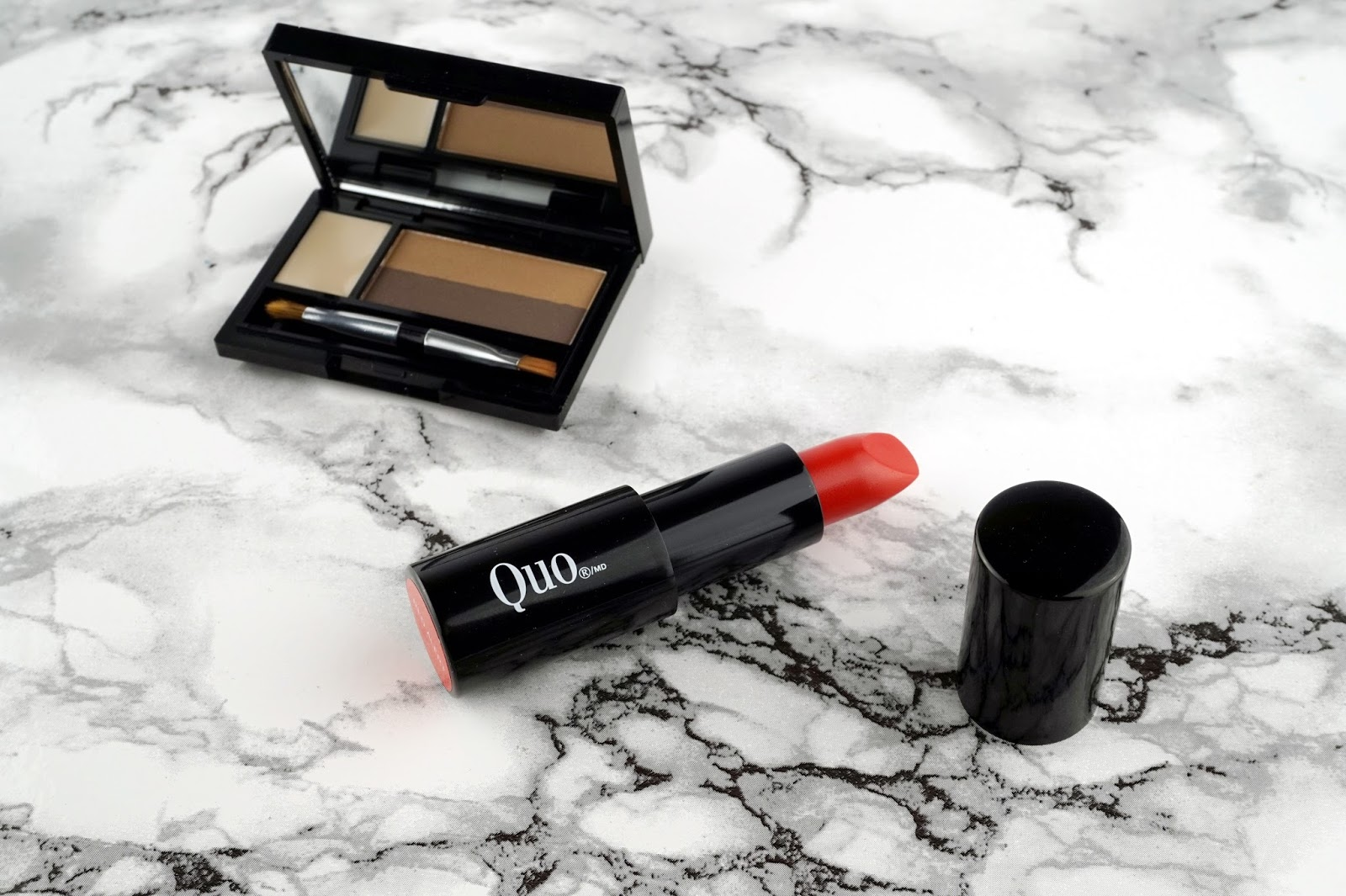 quo cosmetics fall 2016 collection eyebrow palette red alert lipstick