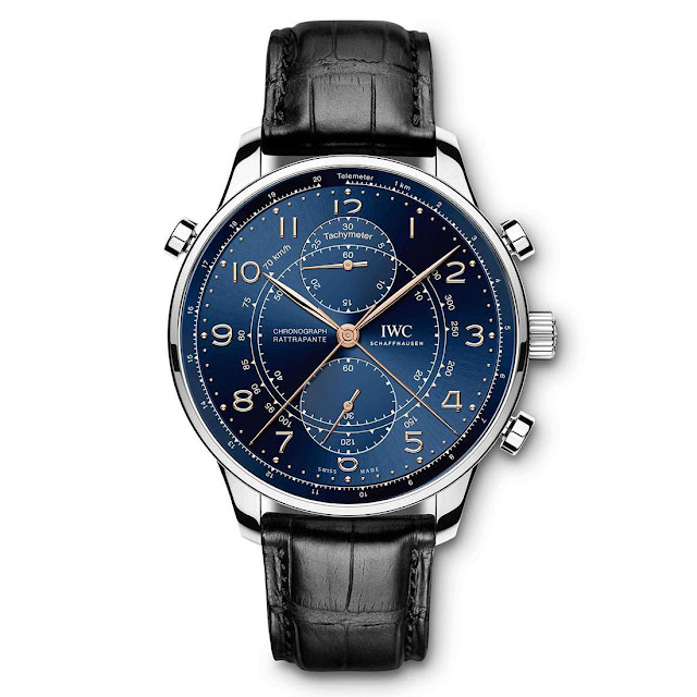 "IWC Portugieser Chronograph Rattrapante Edition ""Boutique Milano"" in stainless steel (Ref. IW371222)"