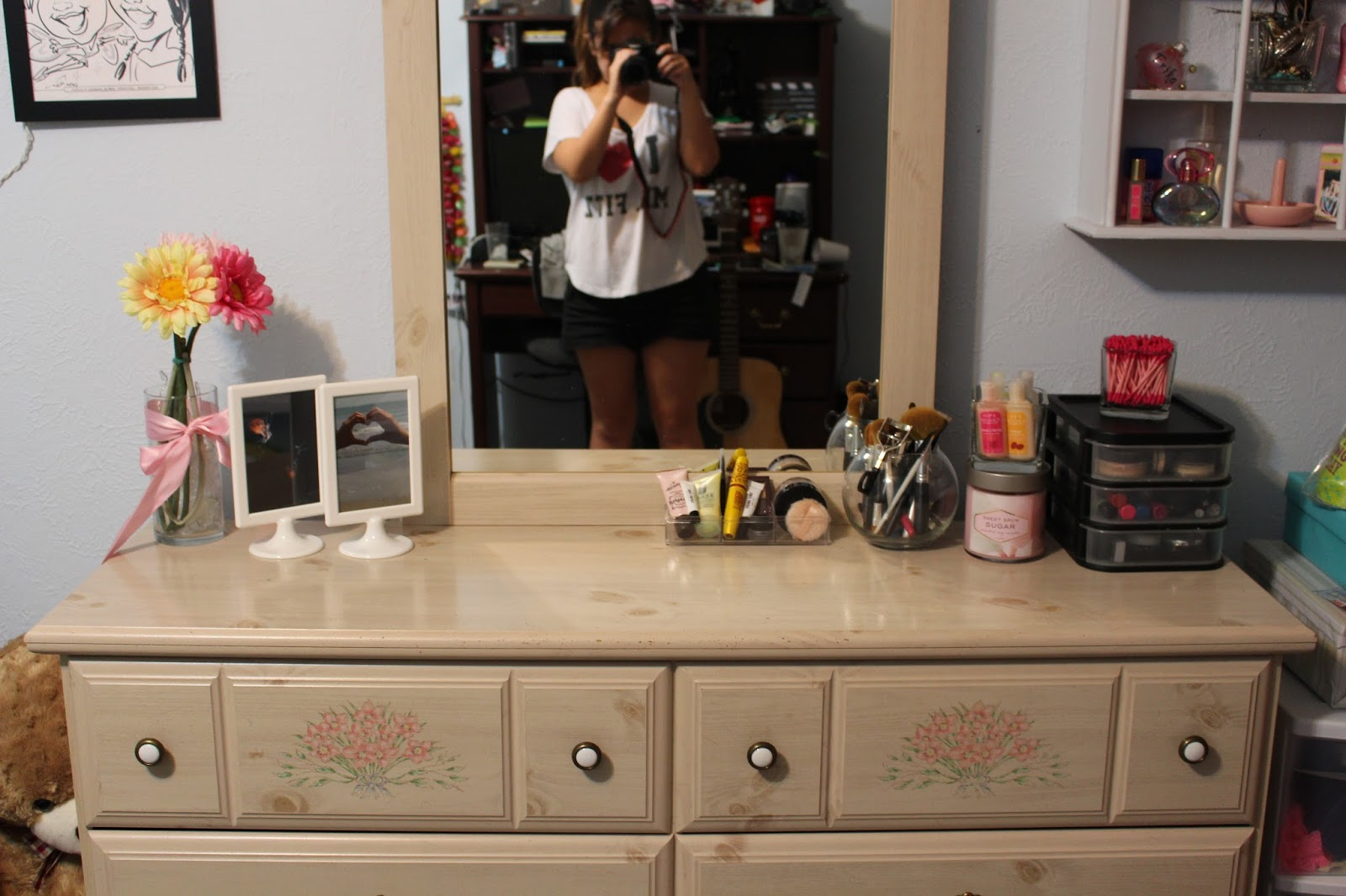 A Penny for Your Thoughts Before and After Dresser Top Organization