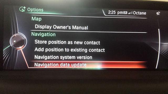 de navigation dans les données de mise à jour