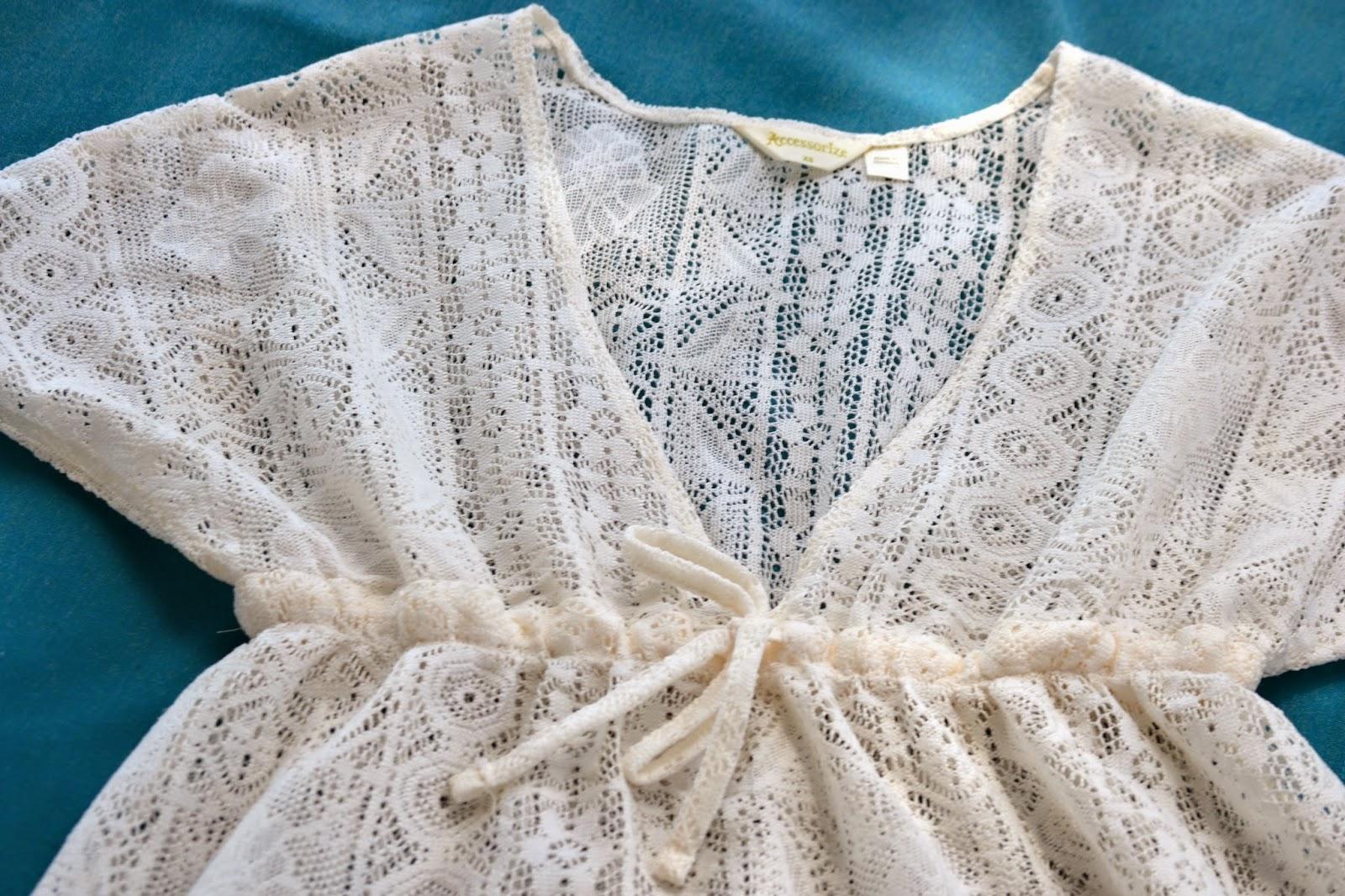 vestido playa blanco de accesorize, moda de verano