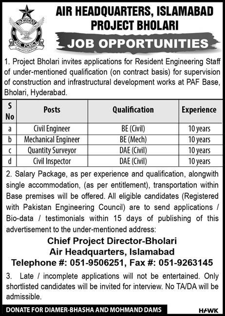New Jobs In PAF Pakistan Air Force PAF latest Jobs apply Now