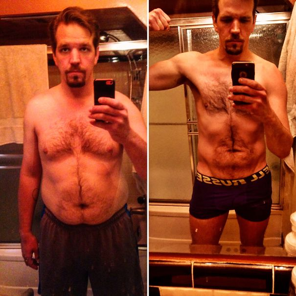 10+ Before-And-After Pics Show What Happens When You Stop Drinking - 8 Months Sober. (-70lbs)