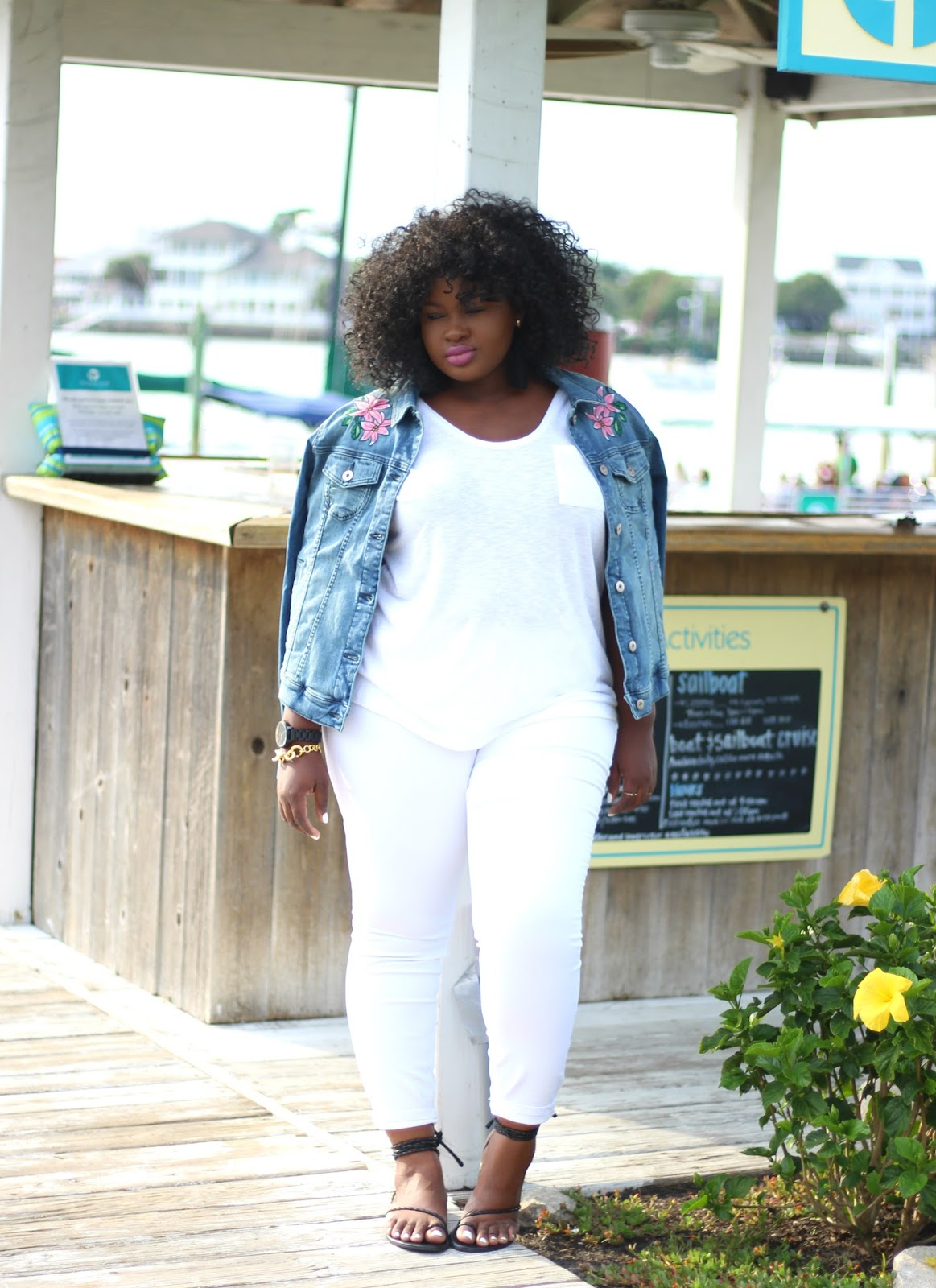 white jeans outfit  the one thing you need from the
