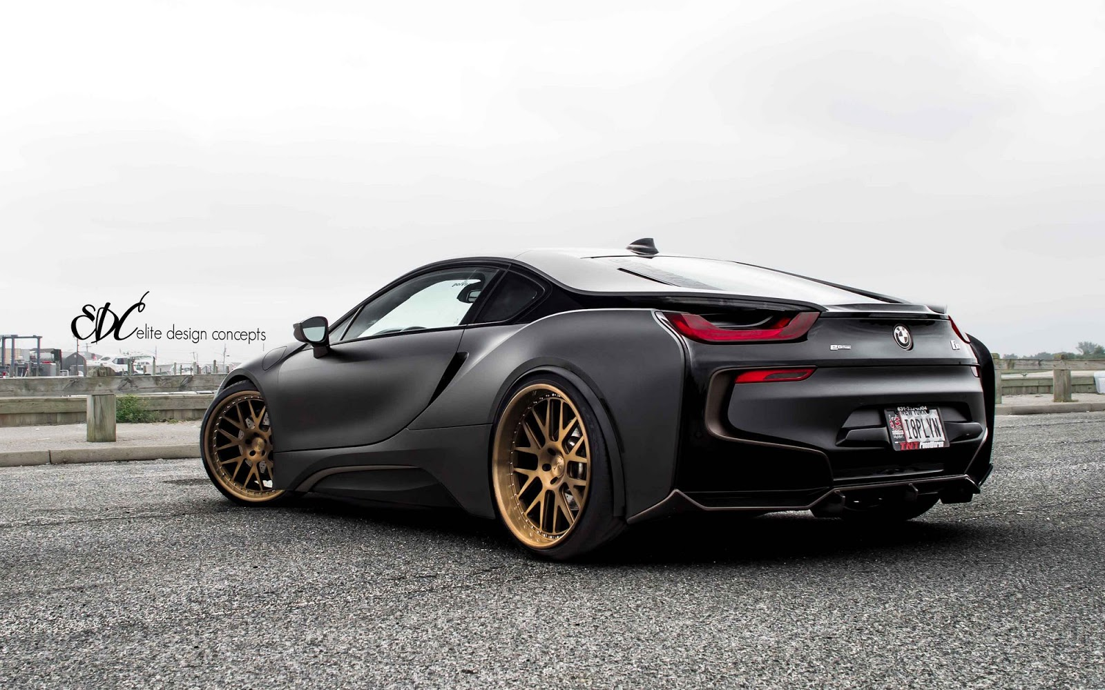 Matte Black Bmw I8 Stuns With Bronze Wheels Carscoops Com