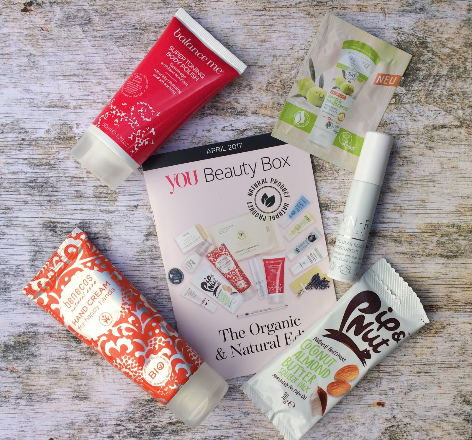 April 2017 You Beauty Box contents