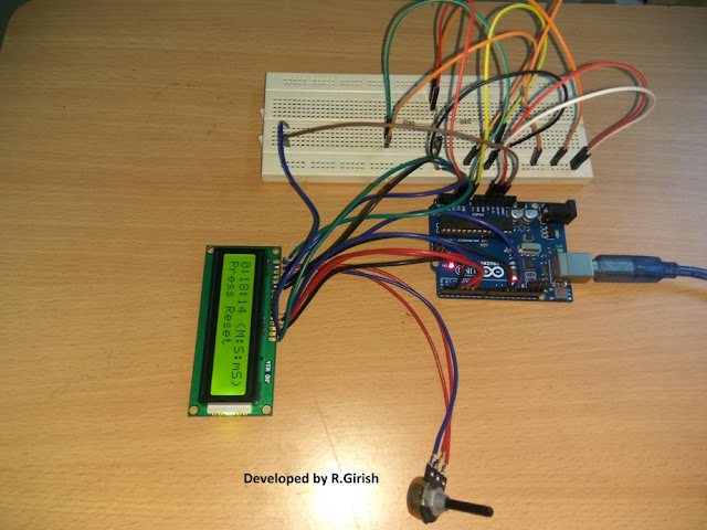 Built Prototype showing Stopwatch for Runners, Athletes and Sport persons