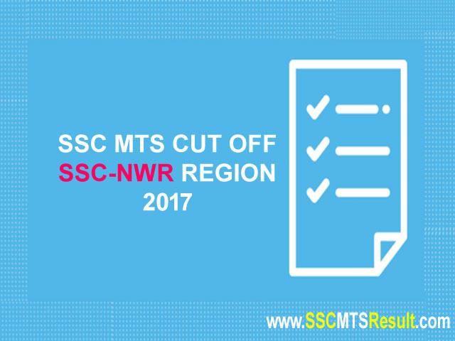 SSCNWR MTS Cutoff North Western Region 2017 Haryana, Punjab, J&K, Himachal Pradesh