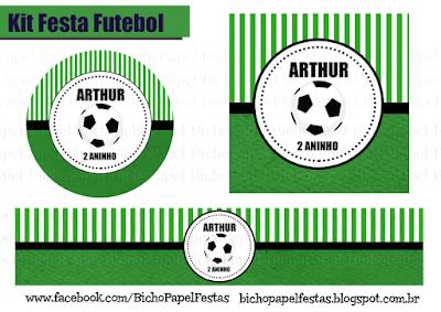 Kit Festa Futebol preto branco verde