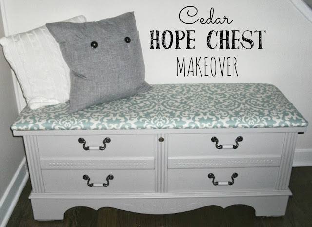 cedar hope chest makeover